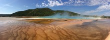 Grand Prismatic Spring, Midway...
