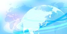 サイバーデジタルネットワーク地球背景幾何学イメージ