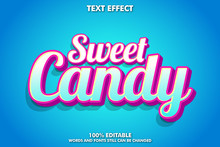 """sweet Candy"" Fancy And Cute Text Effect For Candy Brand"