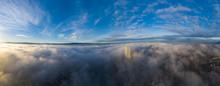 Sea Of Fog Over The Basel City...
