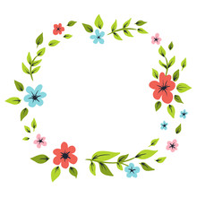 Hand Drawn Floral Wreath For I...
