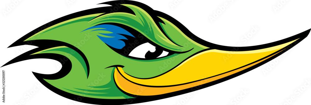 Fototapeta Roadrunner mascot