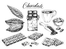 Chocolate Desserts Hand Drawn ...