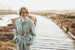 canvas print picture - Glückliche Seniorin in der Natur