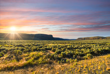 Sunset In The High Desert And ...