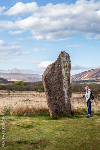 machrie moor standing stones in arran Wallpaper Mural