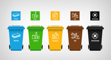 Garbage Can & Vector Icons Segregation 02