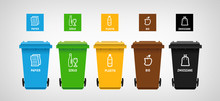 Garbage Can & Vector Icons Seg.