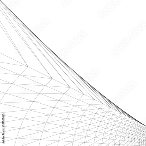 Fototapety, obrazy: architecture abstract design 3d. Vector illustration