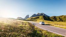 Mountain Road. Beautiful Aspha...