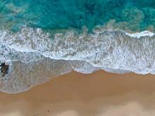 Aerial Top View Of The Ocean C...