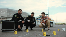 Police And Scientist Investiga...