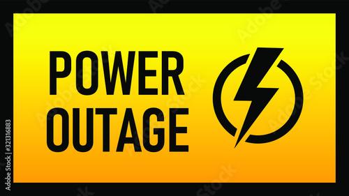 Fotografia, Obraz Power outage warning
