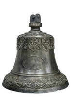 Iron Bell With Ornaments Isola...