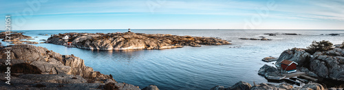 Photo Panoramic view of  small islands of archipelago   along the coast of Southern No