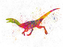 Compsognathus Dinosaur In Wate...