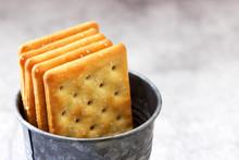 Salty Rectangular Crackers In ...