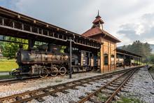 Steam Engine Locomotive Part Of Sargan Eight Narrow-gauge Railway In Serbia