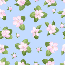 Seamless Pattern With Apple Bl...