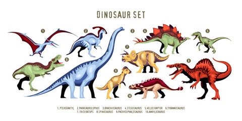 Dinosaur Color Set