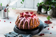 Easter Cake. Kulich Cake. Traditional Babka. Cake For Celebration. Easter Concept. Panettone. Still Life Of Food, Womens Day, Spring Food, Cake With Berries, Baba Au Rhum, Brioche. Christmas Cake