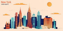 New York City Colorful Paper C...