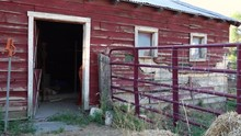 Old Storage Shed On Farm, Miss...