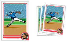 Baseball Card Relief Pitcher