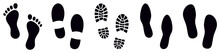 Footprint. Different Human Footprints. Vector