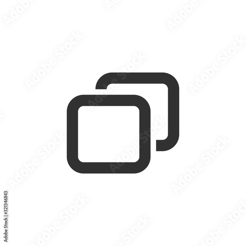 Add new tab, slide, or section line art vector icon for apps and websites Canvas Print