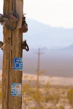 Shoes On Telephone Pole