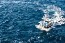 Pilot Boat Making A U Turn Cur...