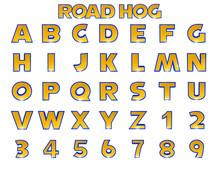Road Hog Alphabet - 3D Illustration
