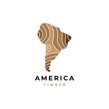 Wood Logo With Map Symbol Grap...