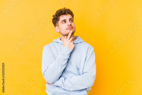 contemplating, planning a strategy, thinking about the way of a business Fototapet