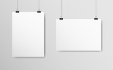 Empty White Mockup Set. Poster...