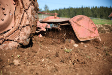 An Agricultural Tractor Cultiv...