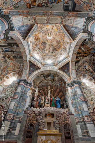 ATOTONILCO, MEXICO - 3 february, 2020 Judas Kiss Jesus Fresco Sanctuary of Jesus Atotonilco Mexico Fototapeta