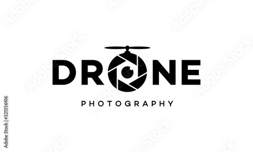 Fototapeta drone photography logo design concept obraz