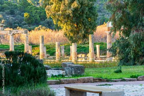 Photo Temple of Artemis in archaeological site of Brauron, Attica, Greece