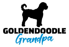 Goldendoodle Grandpa With Silh...