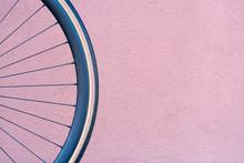 Bicycle Wheel On The Backgroun...