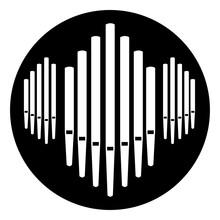 Pipe Organ Instrument Button