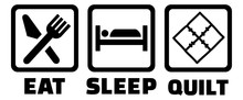 Eat Sleep Quilt Quilting Icon