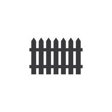 Fence Logo Icon Vector
