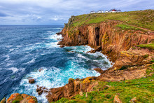 Land's End Cape In Cornwall, E...