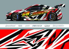 Racing Car Wrap Decal Graphic ...