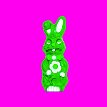 Easter Bunny Neon Green Magent...