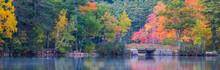 Panorama Of Fall Colors Reflec...