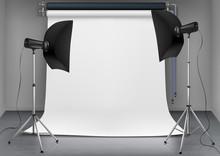 Vector Empty Photo Studio With...